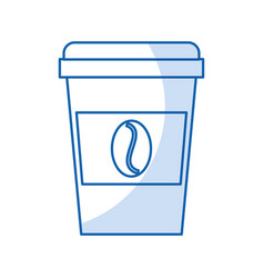 Isolated disposable coffe cup vector