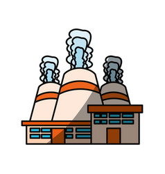 isolated nuclear factory vector image