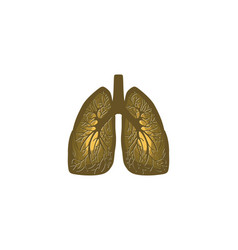 lung logo inspiration isolated on white background vector image