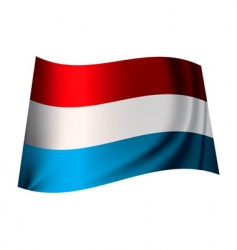 Luxemburg flag vector image