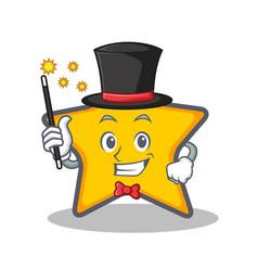 Magician star character cartoon style vector