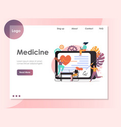 medicine website landing page design vector image