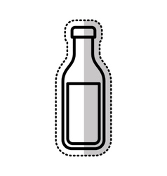milk botle isolated icon vector image
