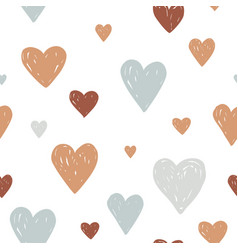 modern pastel colored seamless pattern with hand vector image