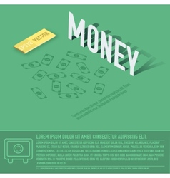 money business background concept design vector image