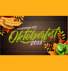 Oktoberfest banner with typography vector