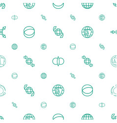 orbit icons pattern seamless white background vector image