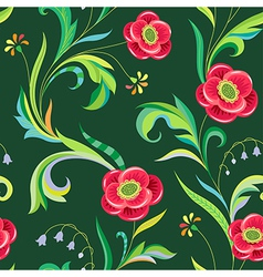 pattern elegant flower vector image