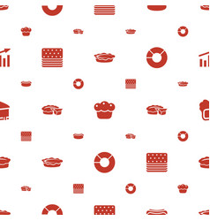 Pie icons pattern seamless white background vector