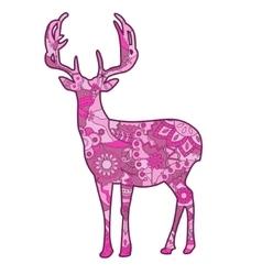 Pink deer vector image