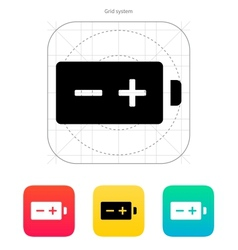 Polarity battery icon vector image