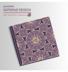 Printable notepad design vector image