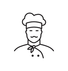 Professional chef line icon vector image