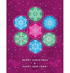 Purple retro christmas background vector