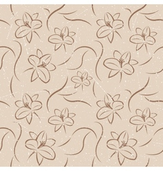 Retro Flowers Seamless vector image