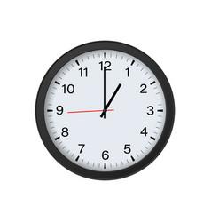 Round clock mockup 1 o clock vector