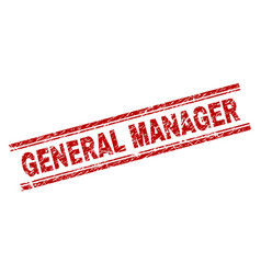 Scratched textured general manager stamp seal vector