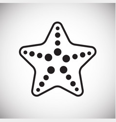Sea star on white background vector