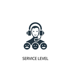 service level icon simple element vector image