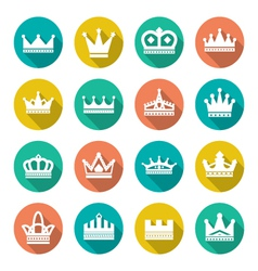 Set flat icons crown vector