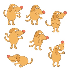 Set of cartoon dog vector