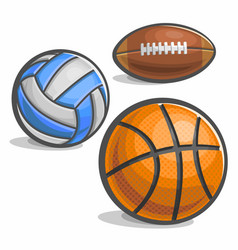 set of sport ball vector image