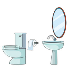 set of toilet element vector image