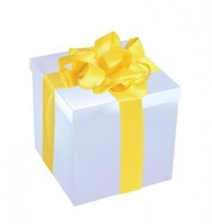 Silver gift box vector