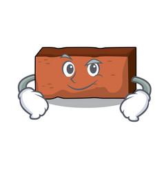smirking brick character cartoon style vector image