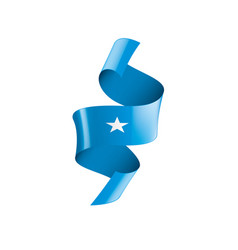 Somalia flag on a white vector