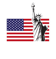 statue liberty usa vector image