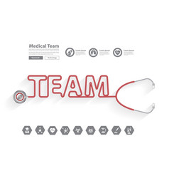 stethoscope medical team ideas concept design vector image