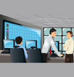 stock traders vector image