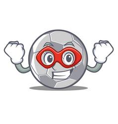 Super hero football character cartoon style vector