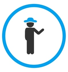Talking Male Circled Icon vector