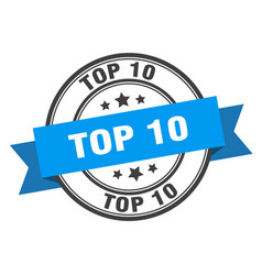 Top 10 label top 10 blue band sign top 10 vector