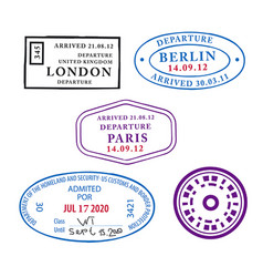 travel pass stamps vector image