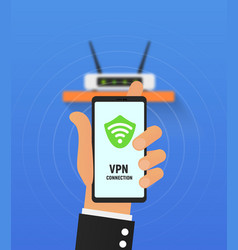 vpn security system secure wireless network vector image