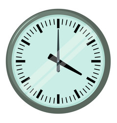 Wall clock icon cartoon style vector