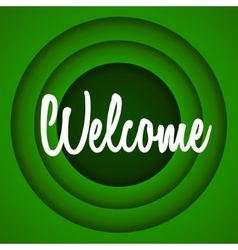 Welcome retro cartoon style vector image