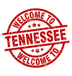 Welcome to tennessee red stamp vector