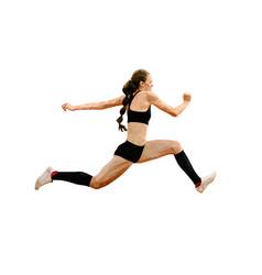 woman athlete jumping triple jump vector image