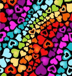cute hearts vector image vector image