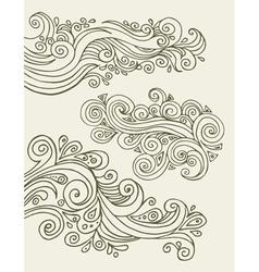 doodles design elements vector image vector image