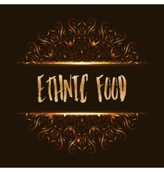 Ethnic food logo mandala design vector image vector image
