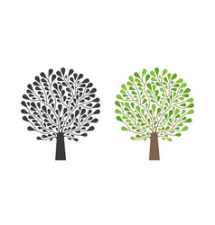 ornamental tree logo nature garden ecology vector image vector image