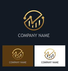 round business finance progress logo vector image