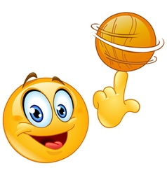 spinning ball emoticon vector image vector image