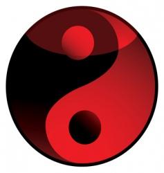 yang yang shadow red vector image vector image