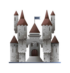 ancient stone castle in fairy-tale design isolated vector image vector image